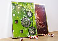 foto adventskalender selber machen mit lindt schokolade. Black Bedroom Furniture Sets. Home Design Ideas