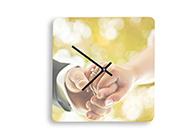 Foto-Uhr quadratisch Acryl/Forex