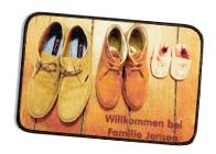 Fußmatte gestalten