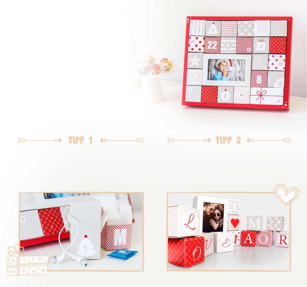foto adventkalender selber machen DIY geschenkidee 2016 fotokasten
