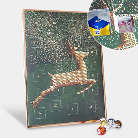 fotos-adventskalender-hirsch-schokolade-gruen-rosegold