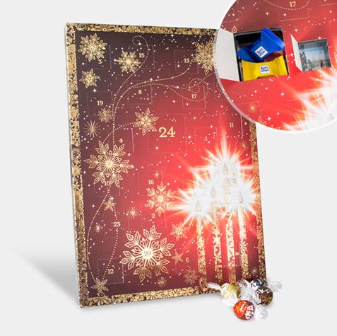 fotos-adventskalender-rot-gold-mit-schokolade