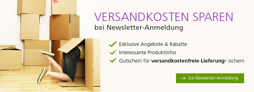 Versandkosten sparen bei Newsletter-Anmeldung