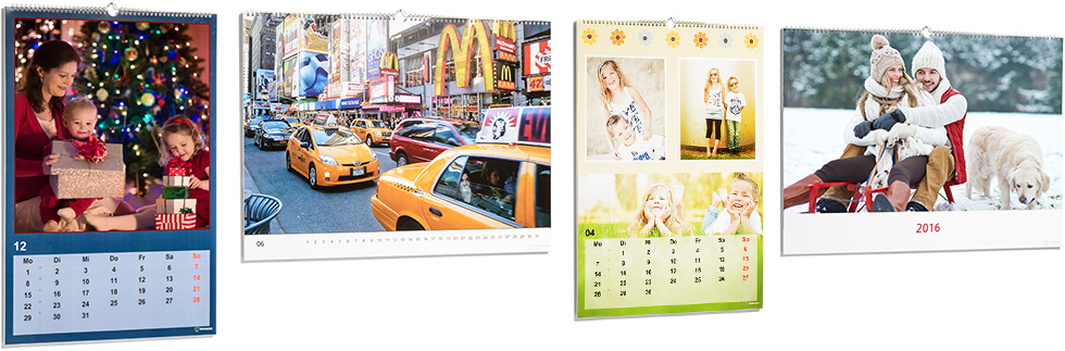 fotokalender selbst gestalten wandkalender a2. Black Bedroom Furniture Sets. Home Design Ideas