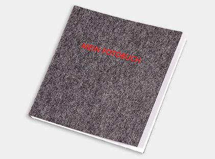 Fotobuch mit Filz 20x20 gestalten