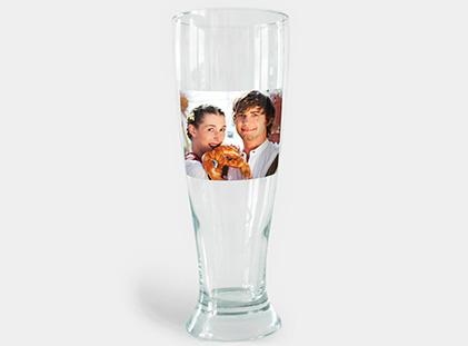 Weizenbierglas mit Foto