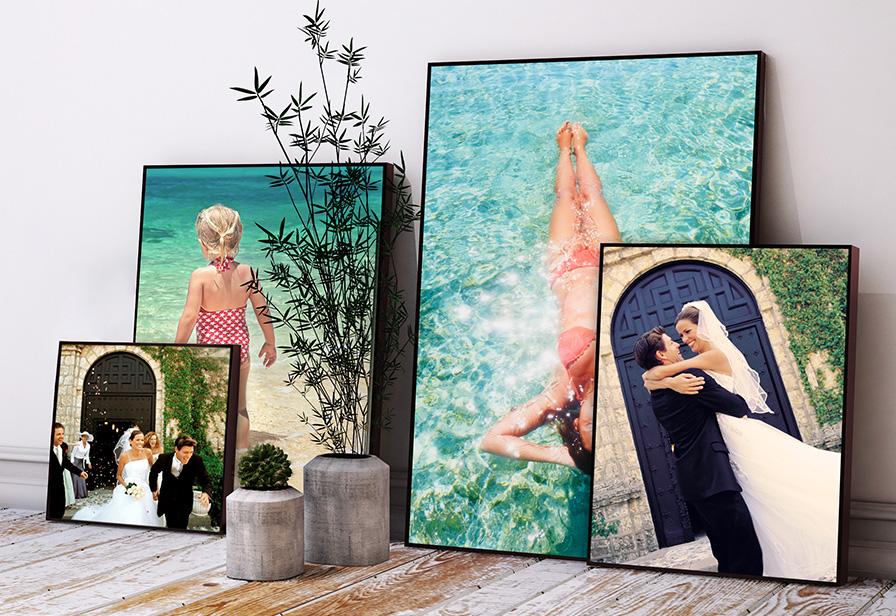 eigenes foto auf acryl glas mit holzrahmen im hochformat. Black Bedroom Furniture Sets. Home Design Ideas