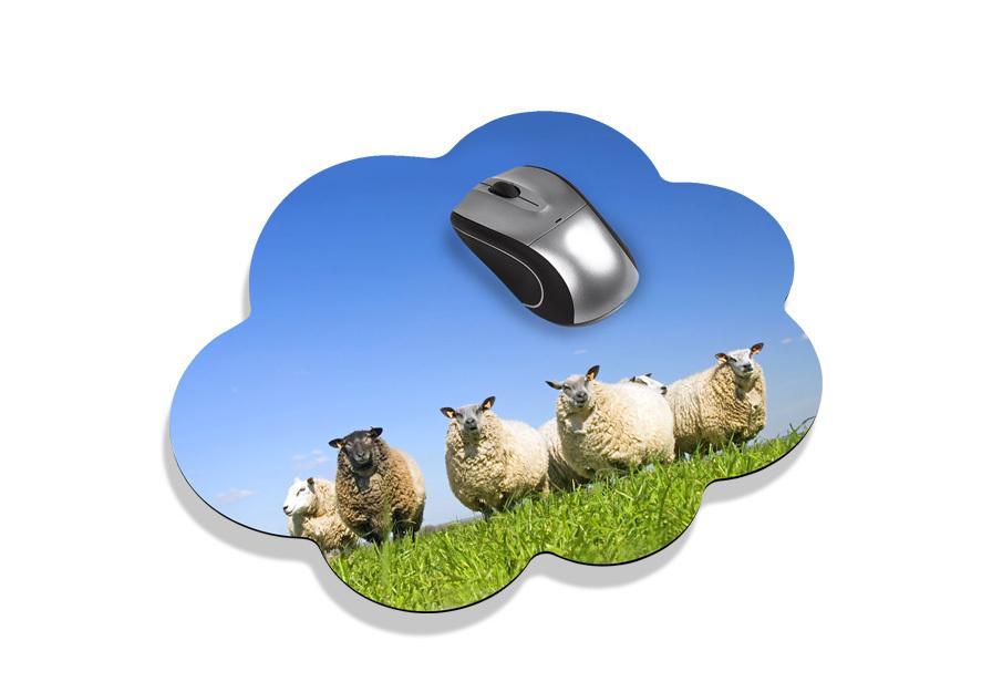 mousepad in wolkenform selbst gestalten. Black Bedroom Furniture Sets. Home Design Ideas