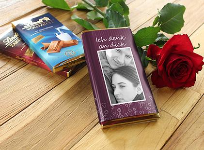 Lindt Schokolade mit Foto