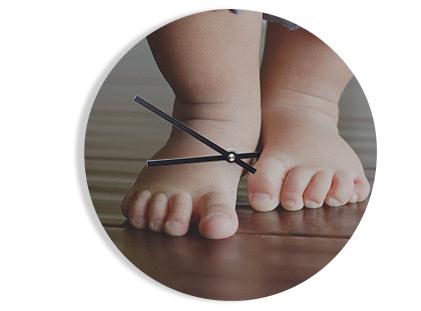 Foto-Uhr rund Acryl/Forex