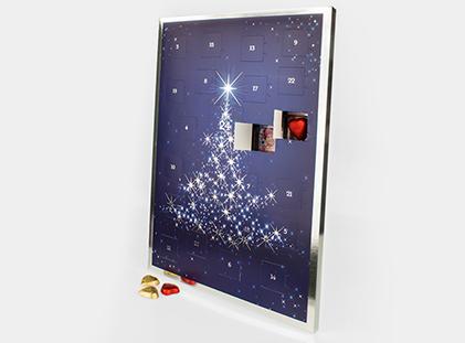 Foto Adventskalender mit Lindt Schokolade