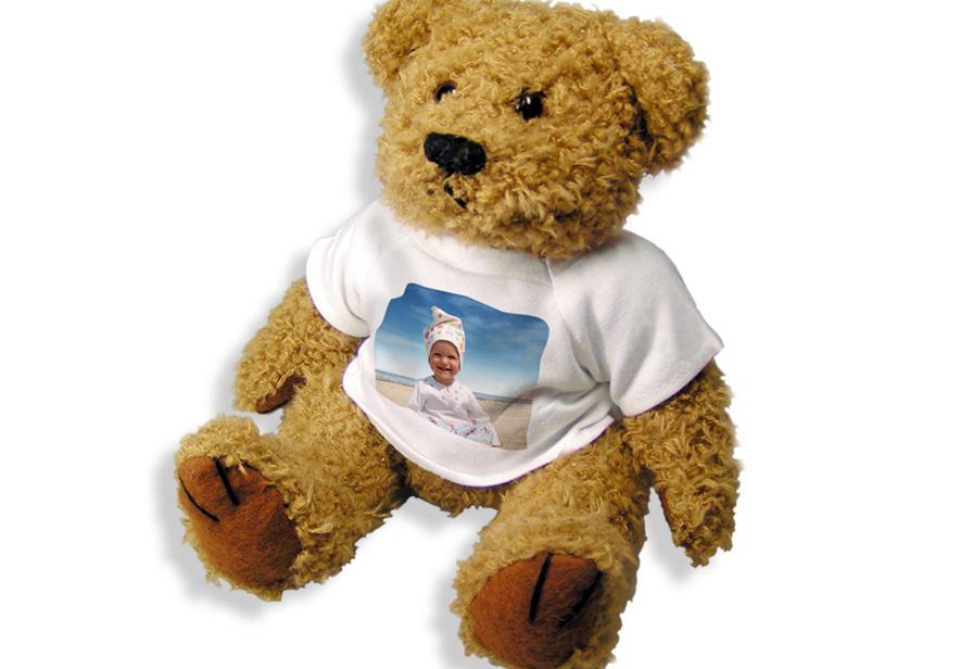Teddybär mit Foto fotokasten