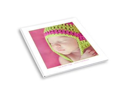Quadratisches Tchibo Fotobuch mit Hardcover online gestalten